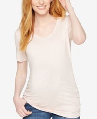 A Pea In The Pod Maternity Ruched Tee Pink