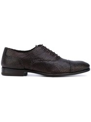 Henderson Baracco Woven Oxford Shoes Men Leather 42 Brown