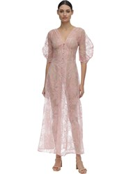 Cult Gaia Organza Midi Dress Pink