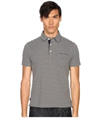 Jack Spade Warren Stripe Polo Navy Men's Clothing