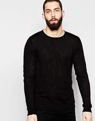 Only And Sons Lightweight Knitted Sweater Black