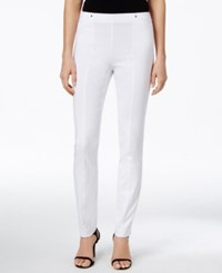 Alfani Petite Skinny Pull On Ankle Pants Only At Macy's Bright White