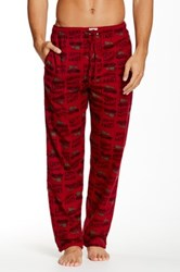 Lucky Brand Printed Flannel Pajama Pant Red