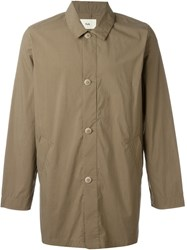 Folk 'Mac' Oversized Button Down Trench Coat Green
