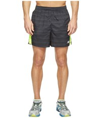 New Balance Accelerate 5 Shorts Typhoon Print Hi Lite Men's Shorts Black