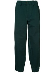 Kolor Elasticated Cuff Trousers Green