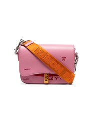 Heron Preston Pink Canal Leather Cross Body Bag