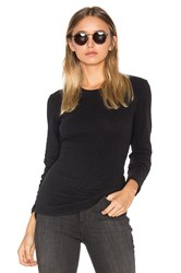 James Perse Brushed Jersey Long Sleeve Tee Black