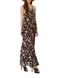Miss Selfridge Floral Maxi Skirt Black Multi