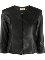 Liu Jo Cropped Faux Leather Jacket 60