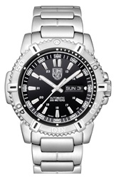 Luminox 'Sea Modern Mariner' Automatic Bracelet Watch 45Mm Silver Black