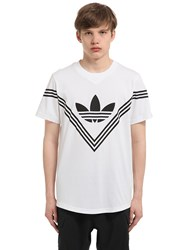 Adidas Originals By White Mountaineering Rubber Logo Cotton Blend T Shirt