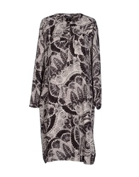 Antik Batik Knee Length Dresses Dark Brown