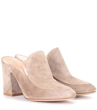 Gianvito Rossi Exclusive To Mytheresa.Com Suede Mules Beige