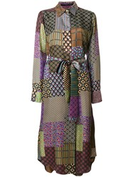 Maurizio Pecoraro Patchwork Print Shirt Dress Multicolour