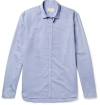 Oliver Spencer Clerkenwell Tab Collar Cotton Oxford Shirt Blue
