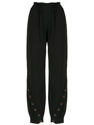 Lilly Sarti Buttoned Pants Black