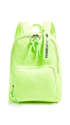 House Of Holland Embroidered Backpack Neon Green