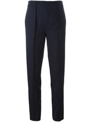 Kenzo Straight Leg Trousers Blue