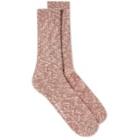 Norse Projects Ebbe Melange Sock Red