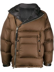 Tom Ford Oversized Padded Jacket Brown