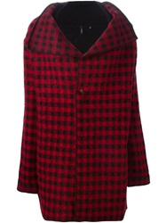 Woolrich Checked Draped Jacket Red