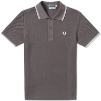 Fred Perry Reissues Textured Knitted Polo Grey
