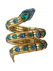 Gucci Triple Snake Bracelet With Crystals Gold