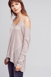 Anthropologie Millipa Open Shoulder Top Grey