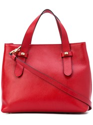 Borbonese Top Handle Tote Women Leather Polyester One Size Red