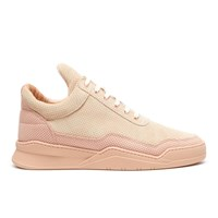 Filling Pieces Men's Ghost Perforated Suede Low Top Trainers Pink