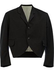 Christopher Nemeth Cropped Button Front Jacket Black