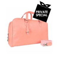 Buti Pink Soft Calf Leather Large Travel Bag
