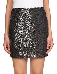 1.State Sequined Mini Skirt Rich Black