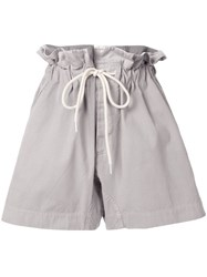 Bassike Canvas Paper Bag Relaxed Shorts Grey