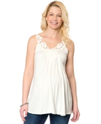 Wendy Bellissimo Maternity Crochet Tank Top