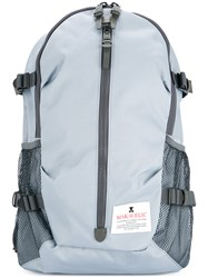 Makavelic Large Zip Backpack Polyester Blue