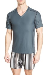 Men's Exofficio 'Give N Go Sport' Mesh V Neck T Shirt Phantom