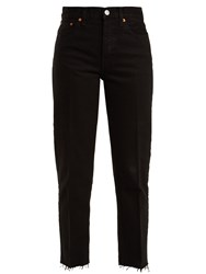 Re Done Originals Stove Pipe High Rise Jeans Black