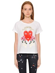 Vivetta Heart Printed Cotton Jersey T Shirt