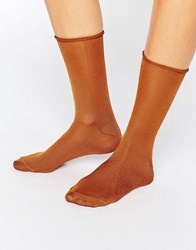 Jonathan Aston Luminosity Socks New Rust Red