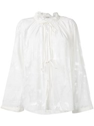 Dorothee Schumacher Sheer Tie Up Blouse White