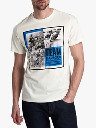 Barbour International Archive Graphic T Shirt Whisper White