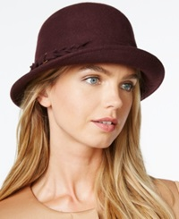 Collection Xiix Braided Band Cloche Hat Red Bordeaux