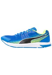 Puma Sequence V2 Cushioned Running Shoes Electric Blue Lemonade Black Safety Yellow