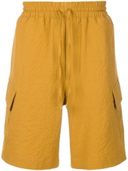 Cmmn Swdn Drawstring Fitted Shorts Yellow And Orange