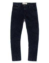 The Native Youth Jeans In Skinny Fit Acid Wash Blue