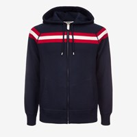Bally Lounge Hoodie With Stripe Blue Ink