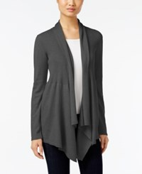 Styleandco. Style Co. Ribbed Open Front Cardigan Only At Macy's Steel Heather Grey