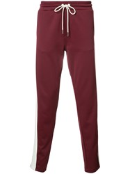 Moncler Stripe Track Pants Red